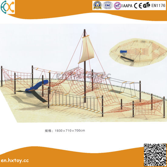 China Large Size Outside Steel Climbing Frame for Kids with Slide ...