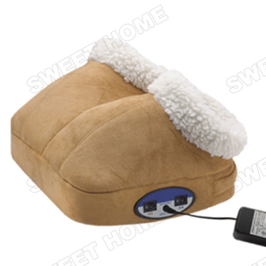 Electric Vibration and Heating Feet Warmer / Body Care Foot Massage Shoes pictures & photos