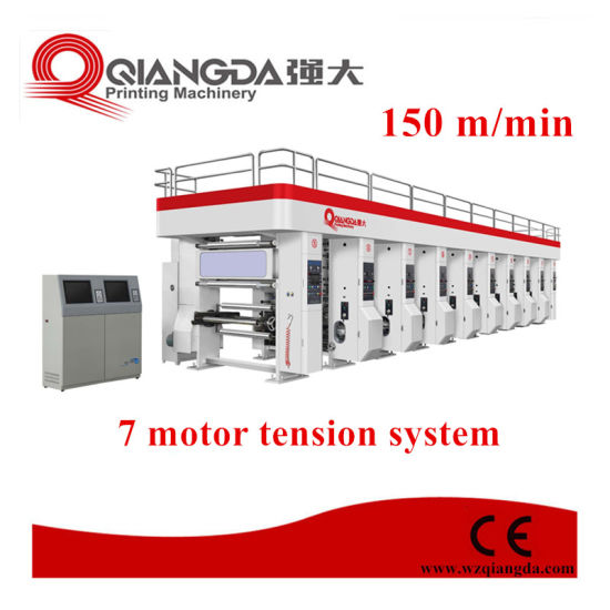 1050 mm 8 Color Arc System Gravure Printing Machine Press