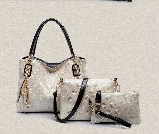 5c0b19bc48 China Guangzhou Factory Lady Designer Fashion PU Leather 3 Handbag ...