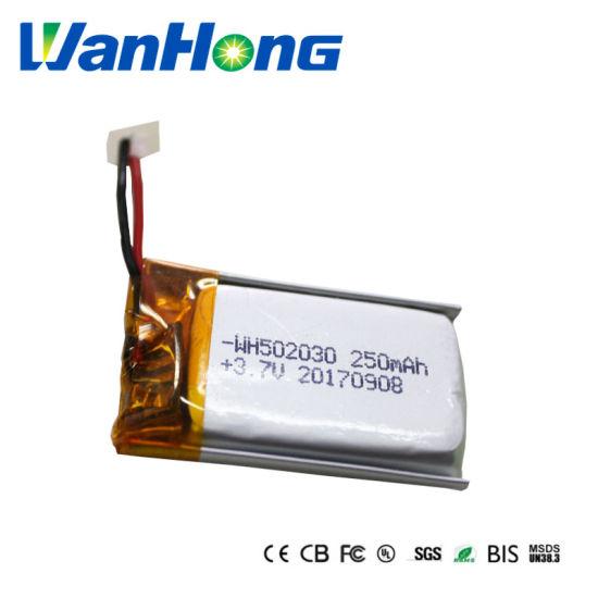 Li-ion Battery 3.7V 502030PL 250mAh Lithium Ion Battery Li-Polymer Battery Pack for Speaker Bluetooth Headphone