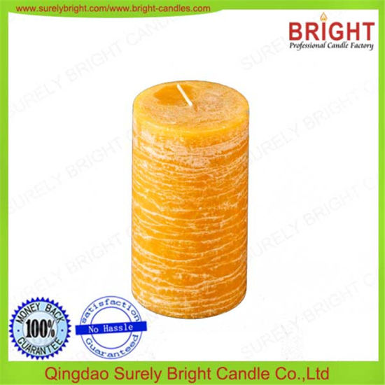 Home Decoration China Professional Produce Household Use Scented Yellow Pillar Candle