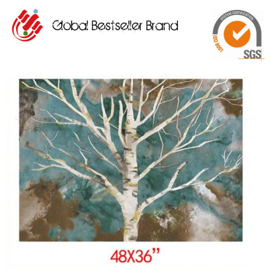 2019 Customized Beautiful Tree Trunk and Branch Hand Oil Painting Home Wall Art Paintings (GF-014) pictures & photos
