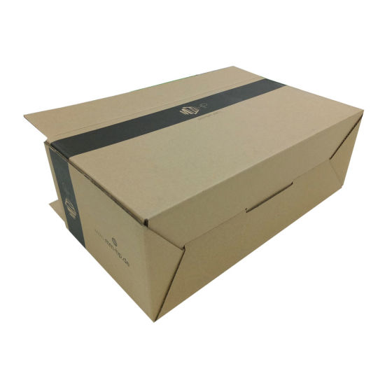 100% Recycled Corrugated Carton Box with Black Logo pictures & photos