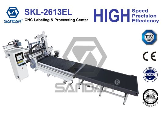 CNC Router with Labeling Device for Furniture Production