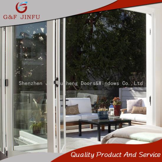 China Aluminum and Glass Bi-Folding Door Interior Exterior Door ...