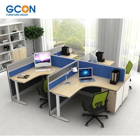Hot Sales Melamine Modern Fancy Furniture Office Desk And Workstation Use  In Office
