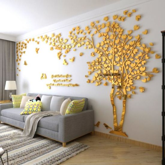 China Creative Acrylic Tree Wall Sticker Living Room Tv Wall Decoration China Acrylic Sticker And Home Decoration Price