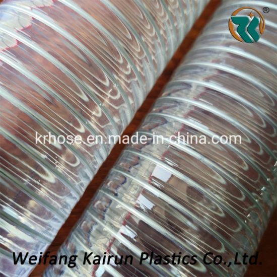 """Industrial Clear Water Fuel 1""""PVC Spring Spiral Pipe Steel"""