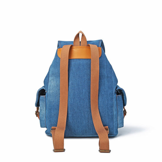 Hot Sale Simple Denim Girl School Rucksack/Backpack pictures & photos