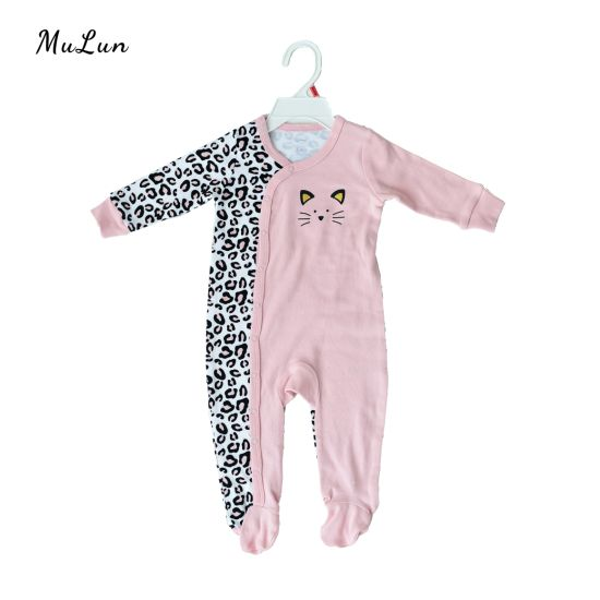 Chinese Factory Baby's Fashion Infant Printing Romper New Born Children Long Sleeve Jumpsuit