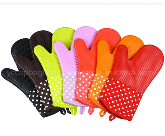 Promotion Heat Resistant Cotton & Silicone Oven Mittens