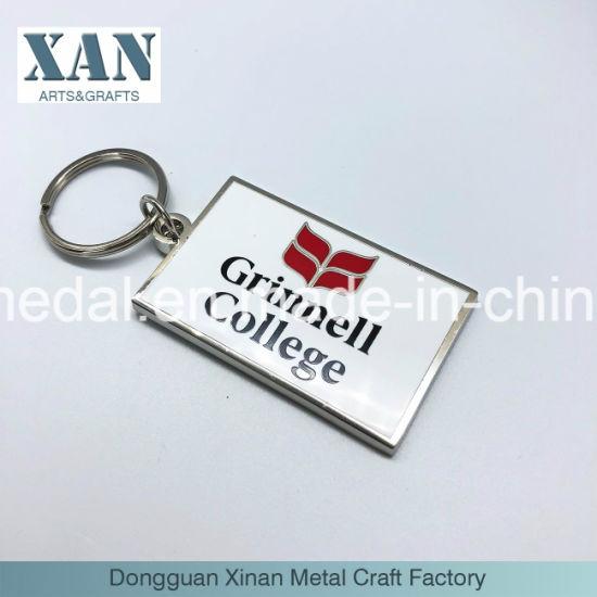 Promotional Gift Metal Enamel Keychain/ Zinc Alloy Key Chain Factory