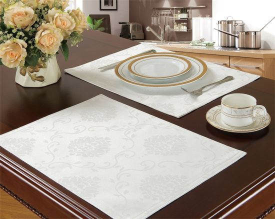 Home Textile Modern Fashion Polyester Jacquard Placemat