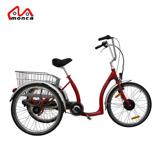 3 Wheels Electric Tricycle with 250W/350W Lithium Battery Front Motor for Old Men
