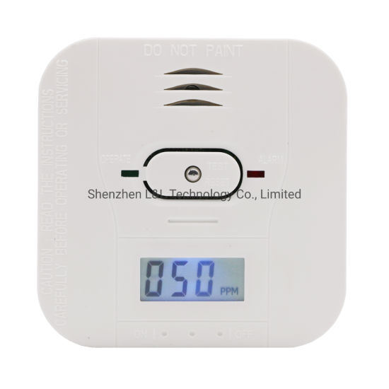 Bulit-in 10 Years Lithium Battery LCD Display Carbon Monoxide Alarm Cst503h