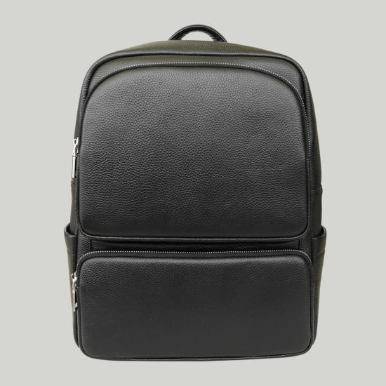 Wholesale Men Laptop Bag Genuine Cow Leather Backpack pictures & photos