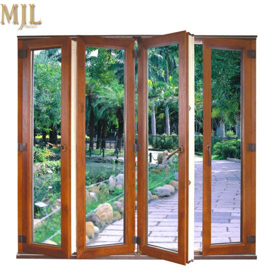 China Hot Sale New Design Frameless Bifold Glass Door For Veranda