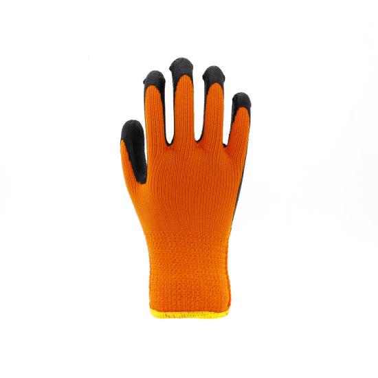 7 Gauges Loop Acrylic Crinkle Latex Working Safety Gloves