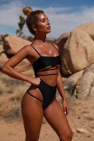 Ladies Sexy Bathing Suit High Waist Hollow Swimwear