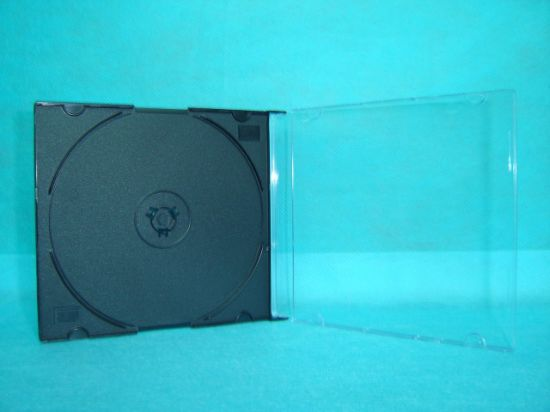 CD Boxes CD Cases Jewel CD Cover Jewel 5.2mm Silm Square with Black Tray Good Quality Cheaper Price