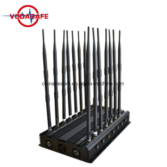 14 Bands Stationary Antenna Jammer, Blocker for All Cellular, GPS, Lojack, Alarm, 14 Antennas Cellular WiFi GPS Lojack VHF/UHF Radio433 315MHz All in One Jammer pictures & photos