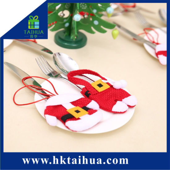 Christmas Decoration Cute Design Promotion Tableware Gift Bag for Cutlery