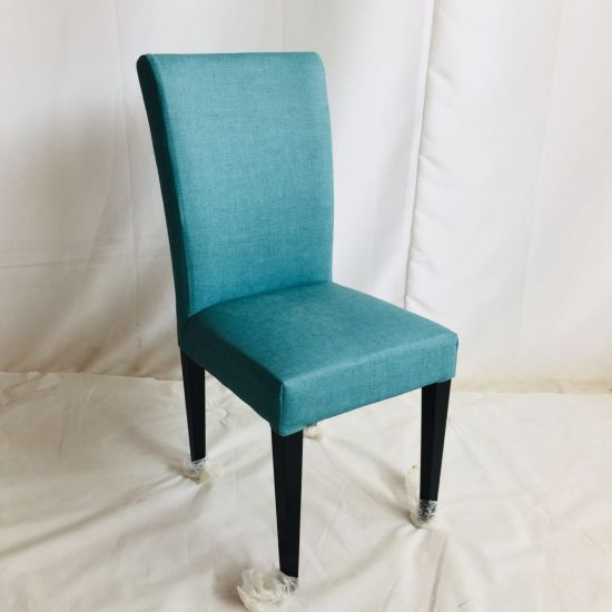 Tiffany Blue Fabric Cover Hotel Dining Room Ceremony Kitchen Bar Dining Chair