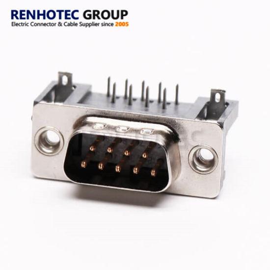 dB9 9 Way D Sub Male Plug Pinout Connector