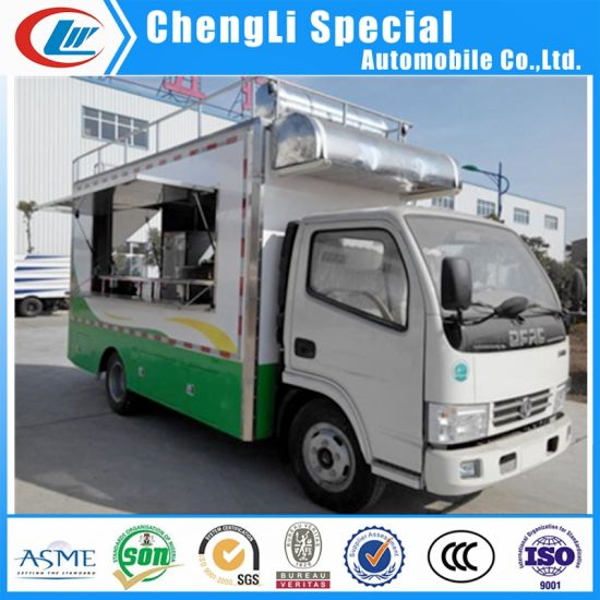 China Food Truck Manufacture Mobile Fast Food Van/Hot Dog Cart/Food Car
