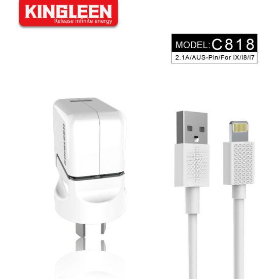 SAA Plug iPhone USB Wall Smart Charger Set Lightning Cable