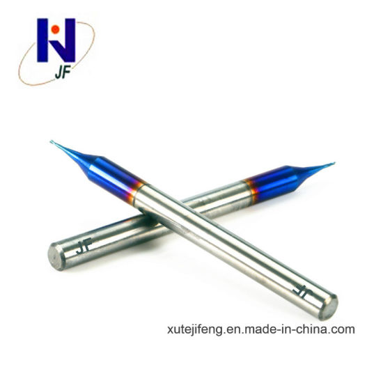 High Quality Solid Carbide Micro 2 Flutes End Mills Blue-Naco Coated pictures & photos