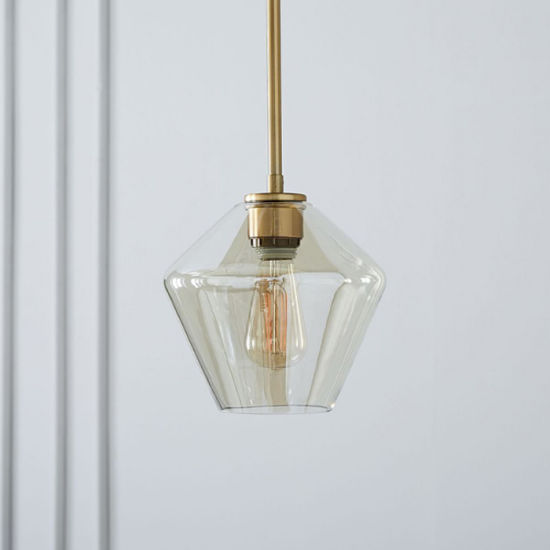 Modern Edison Bulb Hanging Light Pendant Ceiling Lamp With Clear Glass Shade For Loft Bar Kitchen