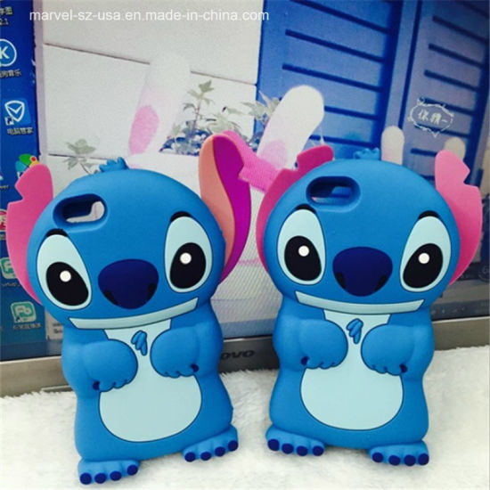 Blue Stitch Cartoon Soft Silicone Cover Phone Case for Samsung Galaxy pictures & photos