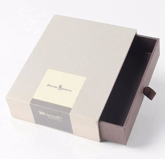 High Quality Paper Gift Packaging Box Cardboard Sliding Drawer Boxes with Customized Logo