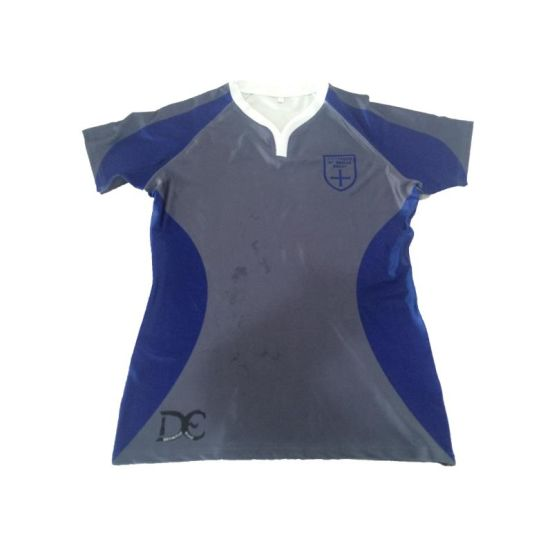 Custom OEM Service High Quality Printed School Team Wholesale Rugby Jersey pictures & photos