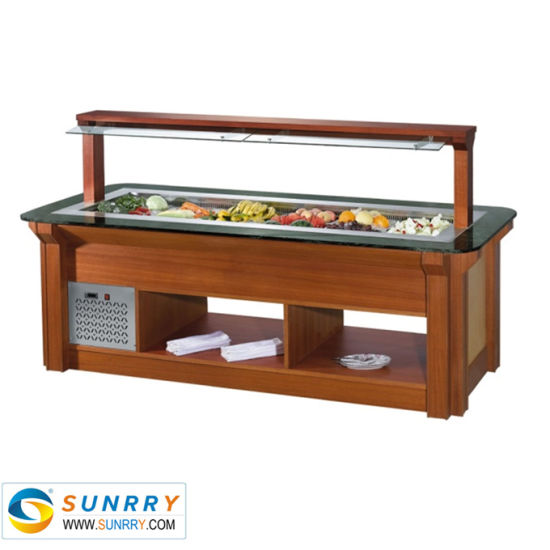 Commercial Chiller Display Table Salad Bar Counter