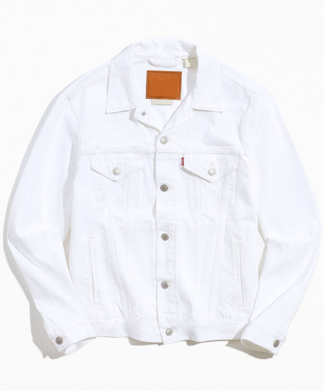 Wholesale Custom Fashion High Quality Mens Denim Jackets White Jackets for Men 100%Cotton