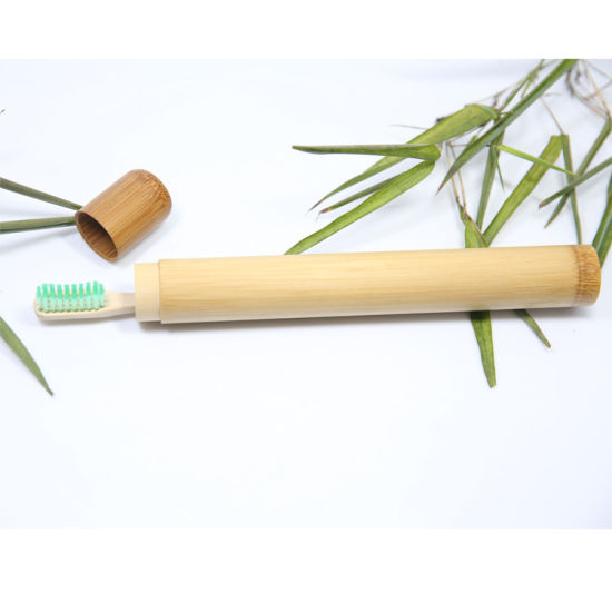 Home Travel Adult Natural Bamboo Toothbrush Holder Box Case