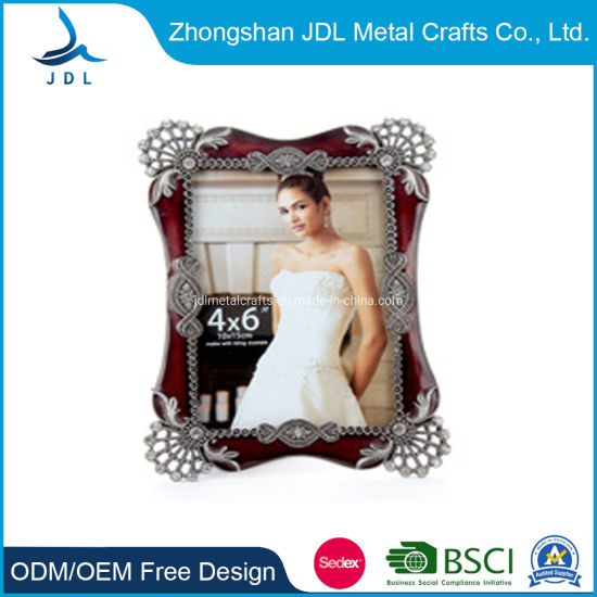 Custom Zinc Alloy Decoration Beautiful Bride Metal Photo/Picture Frame (005)