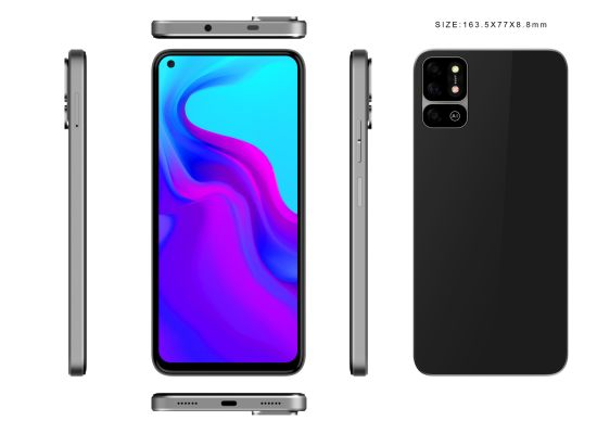 """Fashionable new 6.55 """"inch 4G Smart phone High pixel 48MP camera support OEM / ODM for your brand"""