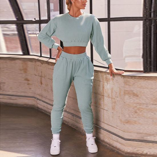 Cotton Spandex Ladies Jogging Sportswear Sports Jogger Sweat Tracksuit