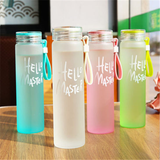 Wholesale Portable Frosted Glass Water Bottle 2020 Hot Sale