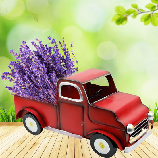 Creative Metal Decoration Car Shape Flower Pot