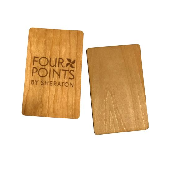 Bamboo Wood Business Cards Wood Piece Laser Wood Name Card Customized
