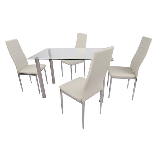 High Quality Glass Top Dining Table for Home