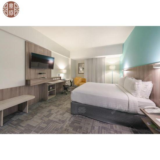 Hotel Interior Design Furniture Suppliers Wood TV Panel Board Custom Made HPL Laminate Headboard Beds
