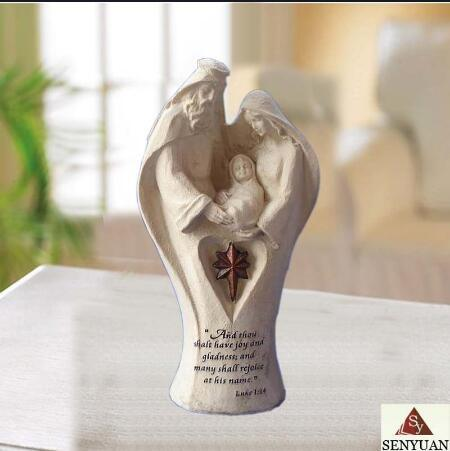 Hot Selling Resin Hand Made Religious Christian Statue Ornaments