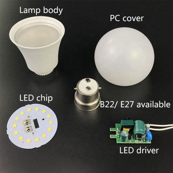 LED Bulb Spare Parts Factory Price 3W 5W 7W 9W 12W 15W 18W 25W E27 B22 Energy Saving Cheap LED Bulb Light