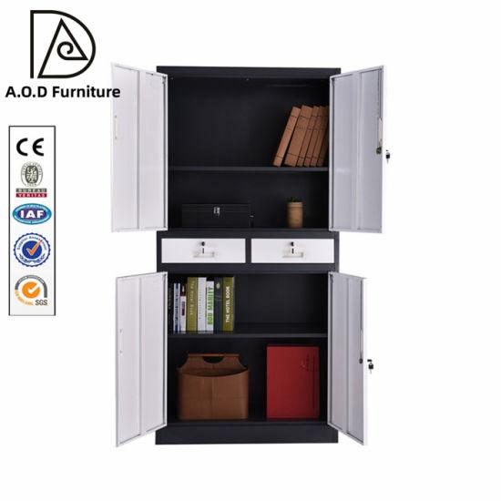 Modern Office Furniture Metal Cabinet Manufacturer 4 Door Filing Cabinet